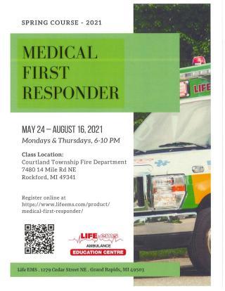 Medical First Responder Flyer with QR reader