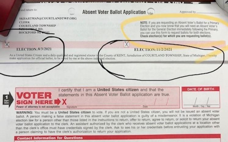 Absent Voter Ballot Application
