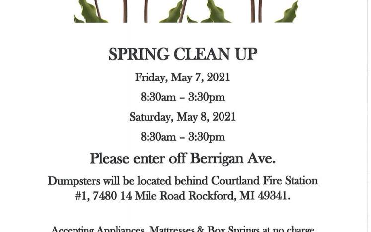 spring clean up flyer