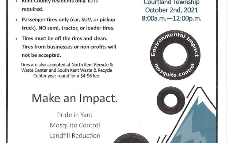 Tire disposal event poster